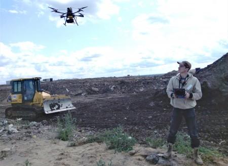 Беспилотник с детектором метана