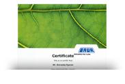 Сертификат BAUR