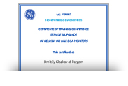 Сертификат о прохождении тренинга GE