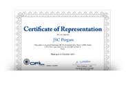 Сертификат представительства OFIL