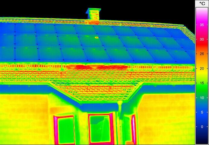 Термограмма крыши