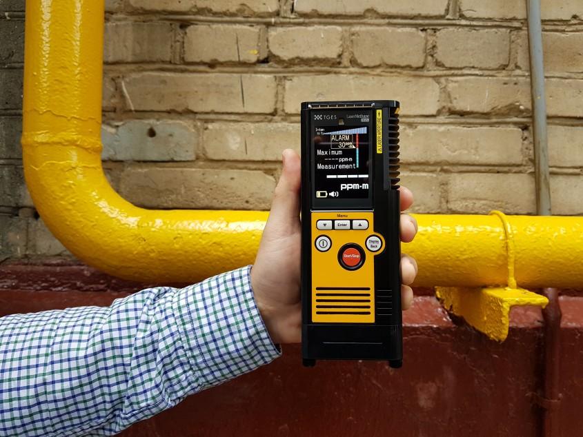 Портативный детектор утечек метана