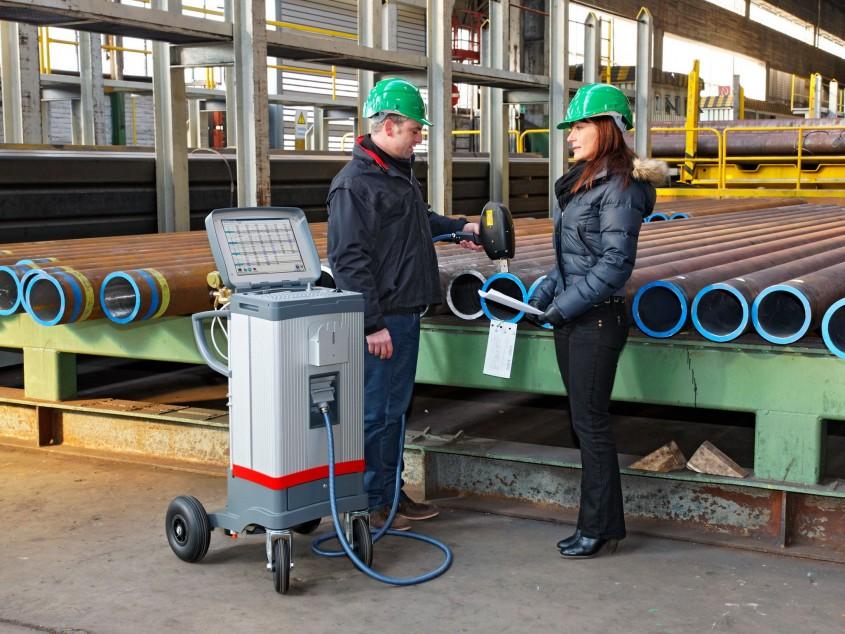 Анализ качества металла труб спектрометром SPECTROTEST