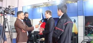 Демонстрация квадрокоптера на выставке International Aviation & Space Industries Exhibition в Иране
