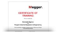 Сертификат MEGGER
