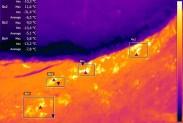 Термограмма мест утечек метана на ТБО