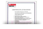 Сертификат LAND AMETEK