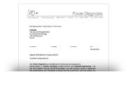 Авторизационное письмо Power Diagnostix
