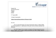 Авторизационное письмо Primayer
