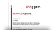 Сертификат сервисного центра MEGGER